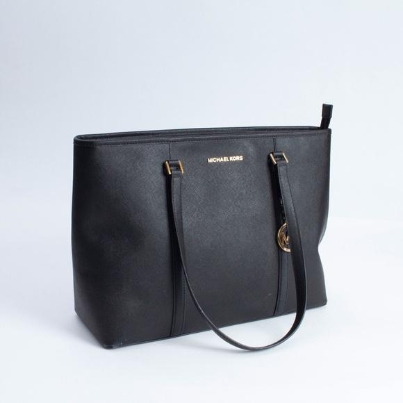 Michael Kors Handbags - Michael Kors LG Ciara Tote Bag Black and Gold
